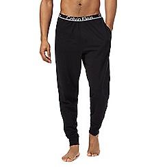 Calvin Klein - Black logo jersey pyjama bottoms