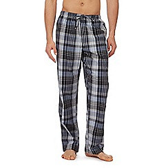 Calvin Klein - Grey and blue checked pyjama bottoms