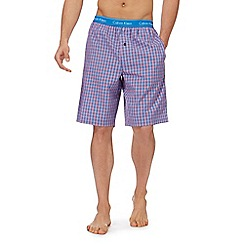 Calvin Klein - Blue and red checked pyjama shorts