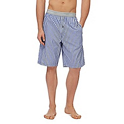 Calvin Klein - Blue and grey striped pyjama shorts