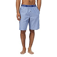 Calvin Klein - Blue striped woven pyjama shorts