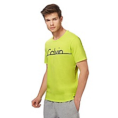 Calvin Klein - Bright yellow logo print t-shirt