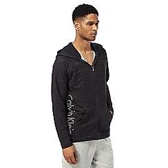 Calvin Klein - Black logo print hoody