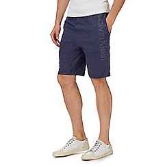 Calvin Klein - Blue logo print shorts