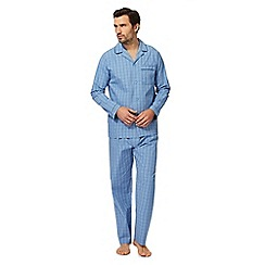 Hammond & Co. by Patrick Grant - Big and tall blue checked pyjama set