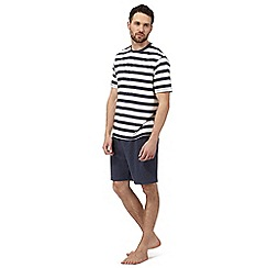 Maine New England - Big and tall white and blue striped loungewear set