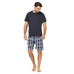 Maine New England - Navy checked print pyjama set