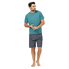 Maine New England - Aqua checked pyjama set