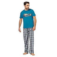 Mantaray - Blue checked pyjama set