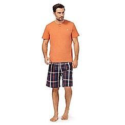 Mantaray - Orange checked pyjama set