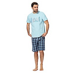 Mantaray - Light blue graphic print pyjama set