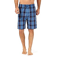 Mantaray - Pack of two navy and green checked pyjama shorts