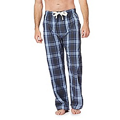RJR.John Rocha - Big and tall blue checked pyjama bottoms