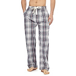 RJR.John Rocha - Big and tall grey check pyjama trousers
