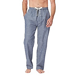 RJR.John Rocha - Big and tall navy checked pyjama bottoms