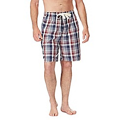 RJR.John Rocha - Big and tall navy checked pyjama shorts