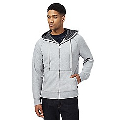 Hammond & Co. by Patrick Grant - Big and tall grey pique weave hoody