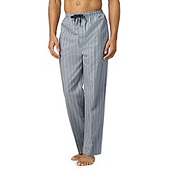 Hammond & Co. by Patrick Grant - Blue textured stripe pyjama bottoms