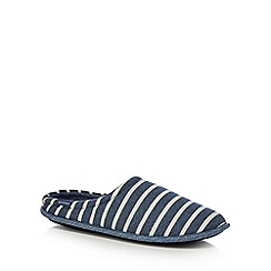 Totes - Blue striped mule slippers
