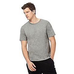 Red Herring - Big and tall grey grain effect t-shirt