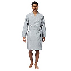 Hammond & Co. by Patrick Grant - Grey lightweight check dressing gown