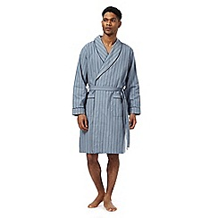 Hammond & Co. by Patrick Grant - Big and tall blue lightweight dressing gown