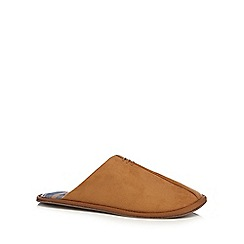 Maine New England - Tan mule slippers