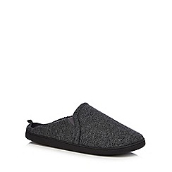 Maine New England - Grey jersey mule slippers