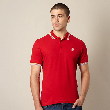 Firetrap - Red rainbow tipped polo shirt