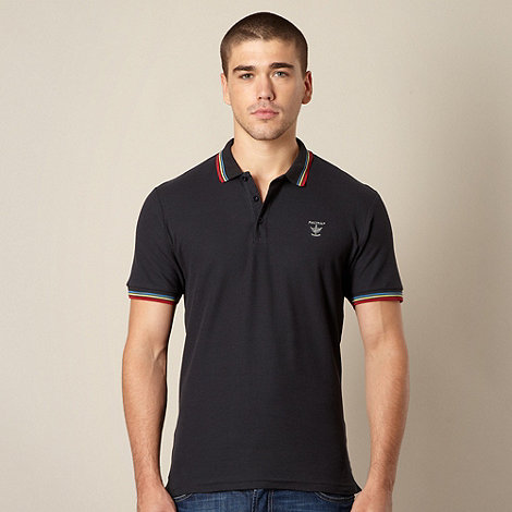 Firetrap - Navy rainbow tipped polo shirt