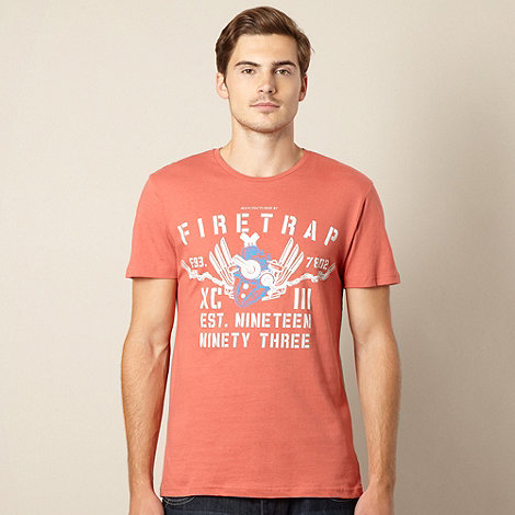 Firetrap - Dark orange logo t-shirt