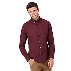 Red Herring - Big and tall wine red button down oxford shirt