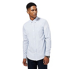 Red Herring - Big and tall light blue fine striped print slim fit shirt