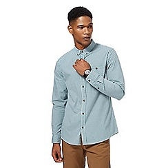 Red Herring - Dark green gingham print slim fit shirt