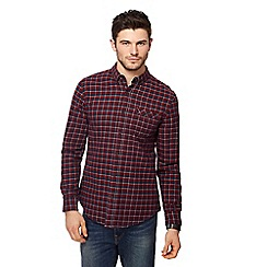 Red Herring - Red box gingham long sleeve shirt