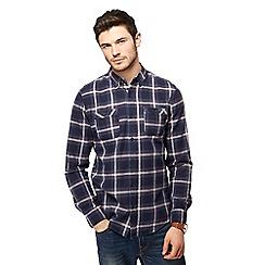 Red Herring - Blue highlight check long sleeve shirt