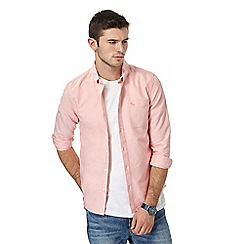 Red Herring - Big and tall light pink slim fit oxford shirt