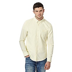 Red Herring - Big and tall pale yellow slim fit oxford shirt