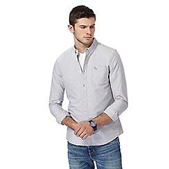 Red Herring - Light grey slim fit Oxford shirt