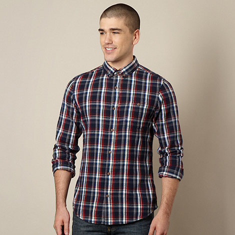 Red Herring - Red brushed checked shirt