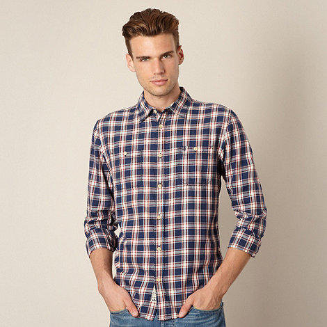 St George by Duffer - Navy wide checked shirt