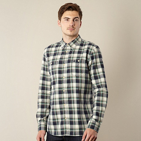 St George by Duffer - Green twill checked shirt