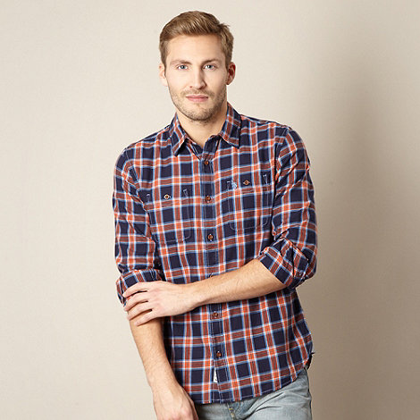 St George by Duffer - Red checked long sleeved shirt