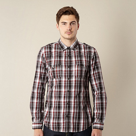 FFP - Dark red checked two pocket shirt