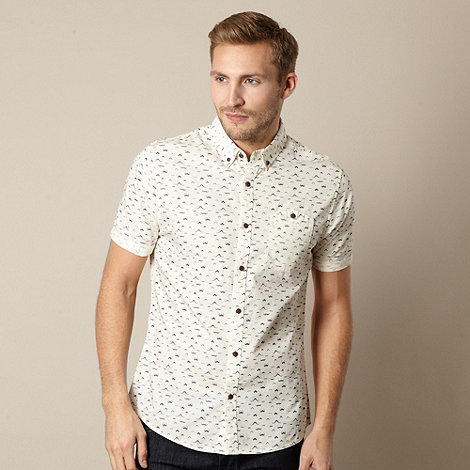 Red Herring - Cream moustache button shirt