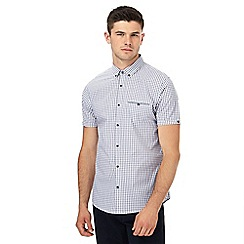 Red Herring - Navy gingham print slim fit shirt