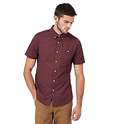 Red Herring - Red Oxford print short sleeve shirt