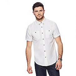 Red Herring - Off white speckled short sleeve shirt