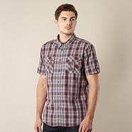 Red checked two pocket shirt