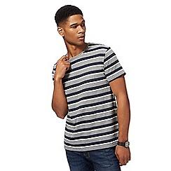 Red Herring - Navy and grey stripe t-shirt